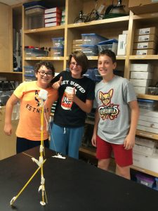 """Federico, Benji, and Charlie build a 48"""" marshmallow tower!"""